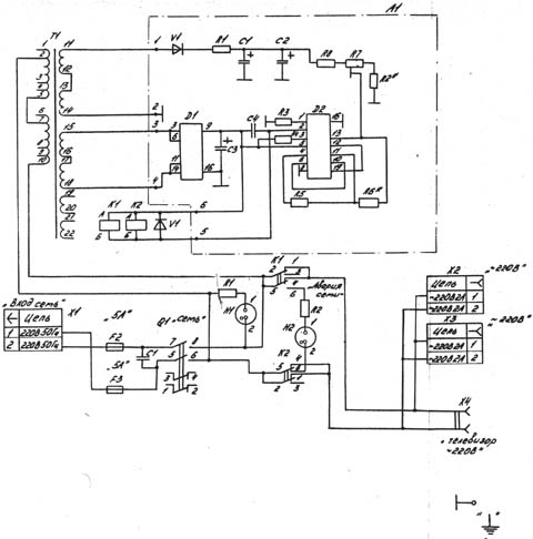 блок ввода сети - схема